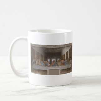 La última cena (1495-1498) taza básica blanca