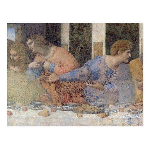 La última cena, 1495-97 2 postal