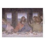 La última cena, 1495-97 2 tarjeta de felicitación