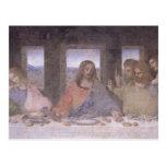 La última cena, 1495-97 2 tarjetas postales
