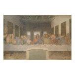 La última cena, 1495-97 (fresco) impresiones en madera