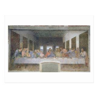 La última cena, 1495-97 (fresco) tarjeta postal