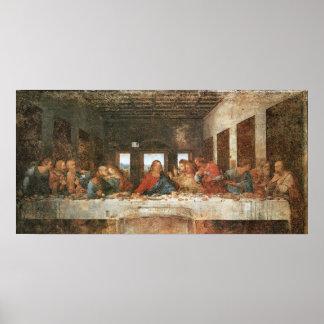 La última cena, 1495-97, Leonardo da Vinci Póster