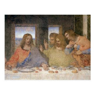 La última cena, 1495-97 postal