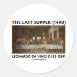 La última cena (1498) por Leonardo da Vinci Etiqueta Redonda
