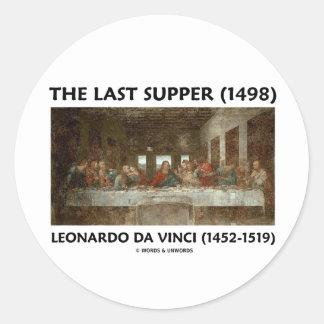 La última cena (1498) por Leonardo da Vinci Pegatina Redonda
