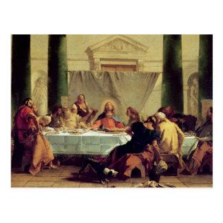 La última cena, 1745-50 postal