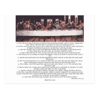 La última cena - 26:17 de Matthew - 30 Tarjeta Postal