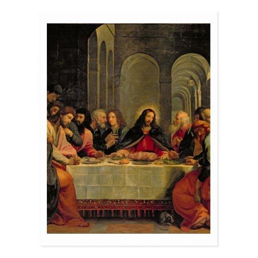 La última cena 2 postales