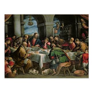 La última cena 3 tarjeta postal