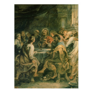 La última cena, c.1630-31 postal