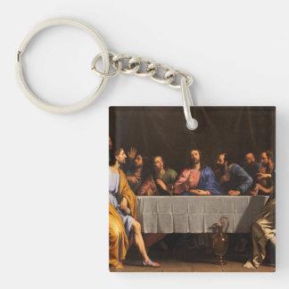 La última cena con los discípulos llavero cuadrado acrílico a una cara