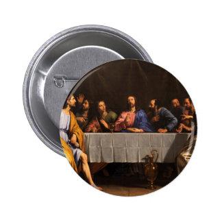 La última cena con los discípulos pin redondo de 2 pulgadas
