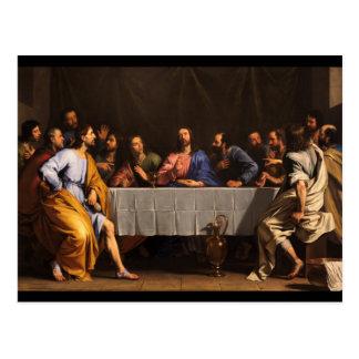 La última cena con los discípulos tarjetas postales