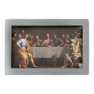 La última cena de Felipe de Champaigne (1648) Hebillas De Cinturon Rectangulares