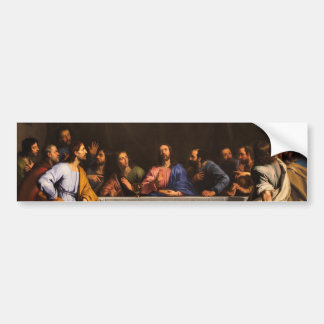La última cena de Felipe de Champaigne (1648) Pegatina Para Auto