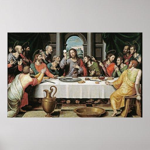 La última cena de Juan de Juanes Impresiones