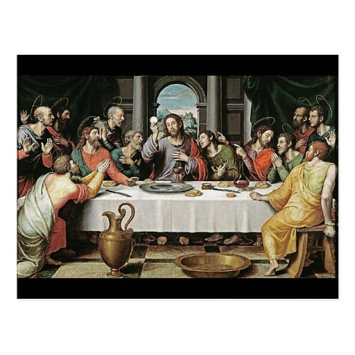 La última cena de Juan de Juanes Tarjetas Postales