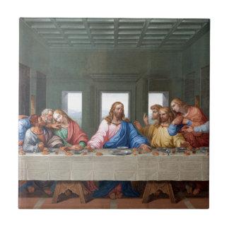 La última cena de Leonardo da Vinci Azulejo Cuadrado Pequeño