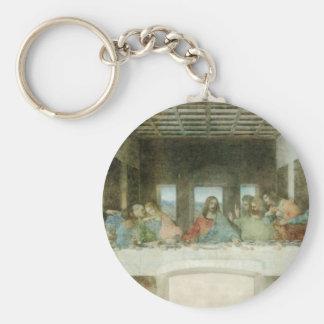 La última cena de Leonardo da Vinci C. 1495-1498 Llavero Redondo Tipo Pin