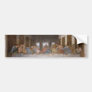 La última cena de Leonardo da Vinci Etiqueta De Parachoque