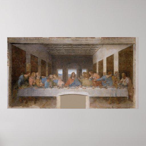 La última cena de Leonardo da Vinci Posters