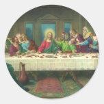 La última cena de Leonardo da Vinci Pegatina Redonda