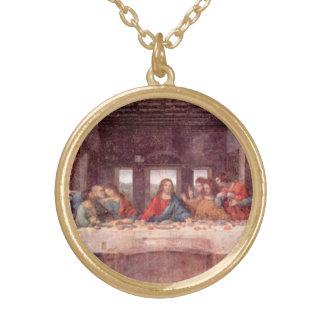 La última cena de Leonardo da Vinci, renacimiento Collar Dorado