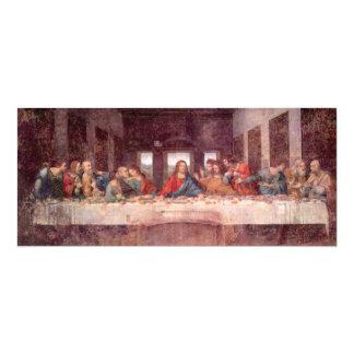 La última cena de Leonardo da Vinci, renacimiento Invitación 10,1 X 23,5 Cm