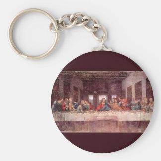 La última cena de Leonardo da Vinci, renacimiento Llavero Redondo Tipo Pin