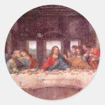 La última cena de Leonardo da Vinci, renacimiento Pegatina Redonda