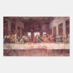 La última cena de Leonardo da Vinci, renacimiento Pegatina Rectangular