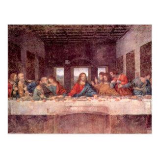 La última cena de Leonardo da Vinci, renacimiento Postal