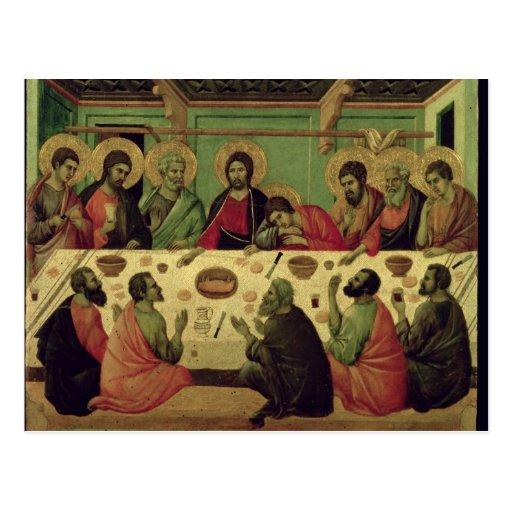 La última cena, del Altarpiece de la pasión Postal