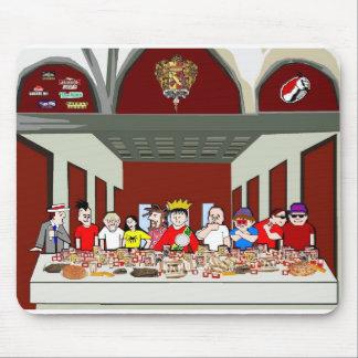 La última cena del comedor alfombrillas de ratones