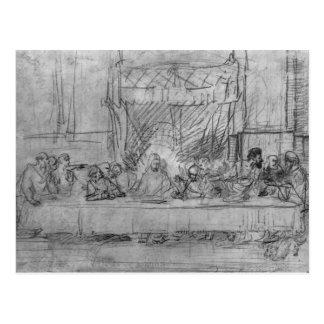 La última cena, después del fresco por Leonardo DA Tarjeta Postal