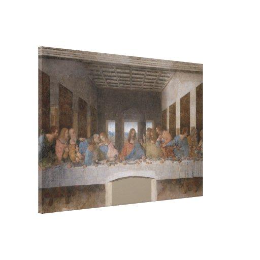 La última cena/el Última Cena de Leonardo da Vinci Impresiones En Lienzo Estiradas