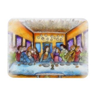 La última cena imanes rectangulares