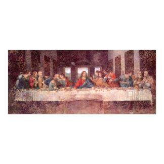 """La última cena, Leonardo da Vinci, fiesta de Invitación 4"""" X 9.25"""""""