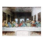 La última cena por la postal de da Vinci