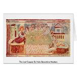 La última cena por los amos Italo-Bizantinos Felicitación
