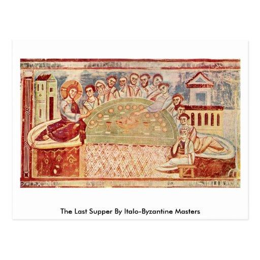 La última cena por los amos Italo-Bizantinos Tarjetas Postales