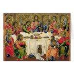 La última cena tarjeta de felicitación