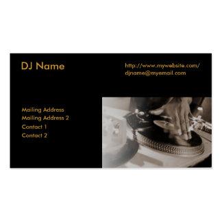 La última tarjeta de visita de DJ