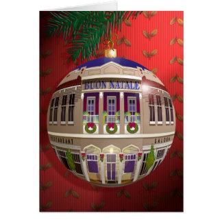 La Un Ornamento di Buon Natale-Rosso Tarjeta De Felicitación