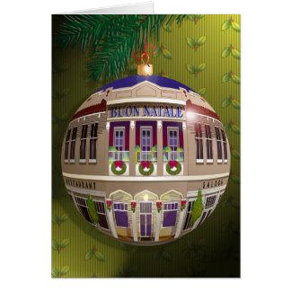 La Un Ornamento di Buon Natale-Verde Tarjeta De Felicitación