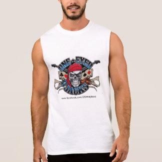 La una camiseta sin mangas de los hombres observad