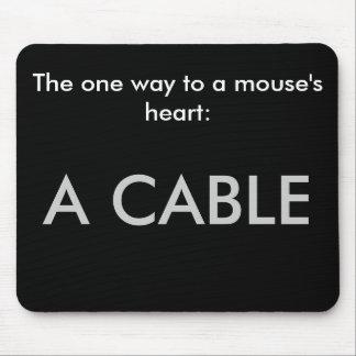 La una manera al corazón de un ratón: Un mousepad