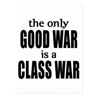 La única buena guerra es una guerra de clase postales