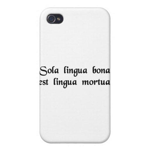 La única buena lengua es una lengua muerta iPhone 4/4S fundas